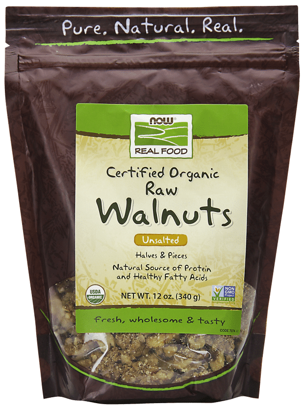 NOW Organic Raw Walnuts | Pure On Main NOW Brands