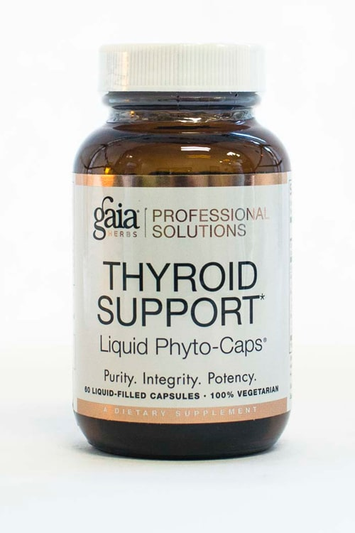 Gaia Thyroid Support 60 Caps   Pure On Main