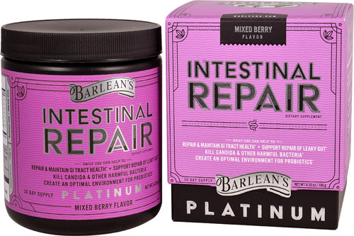 Barlean's Intestinal Repair Mixed Berry 6.35 oz Powder