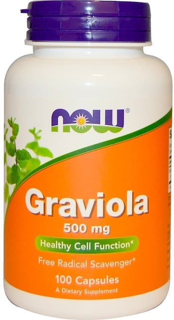 NOW Graviola 100 Capsules | Pure On Main Energy and Focus