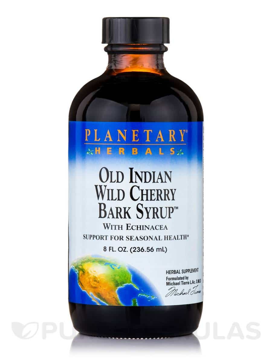 Old Indian Wild Cherry Bark Syrup, Planetary Herbals | Pure On Main Gut Health